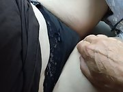Sexy time in my car with uber-cute gf studying her pussy with finger